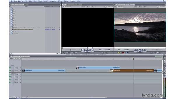 Reconforming a Final Cut Pro project: Color 1.5 Essential Training
