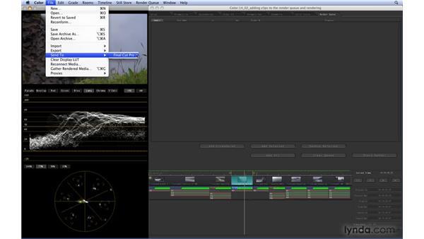 Sending a Color project back to Final Cut Pro: Color 1.5 Essential Training