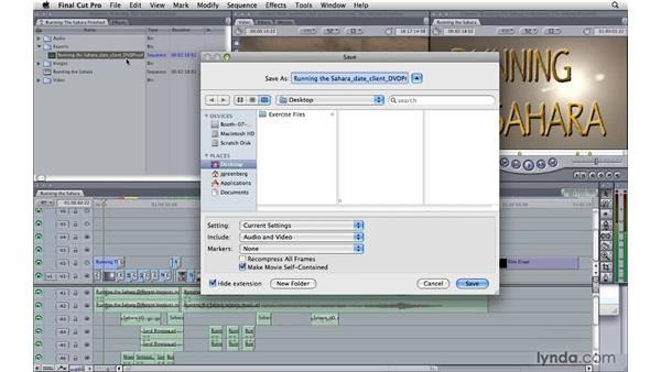 Getting footage from FCP to Compressor: Compressor 3.5 Essential Training