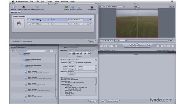 Using the Preview window intelligently: Compressor 3.5 Essential Training