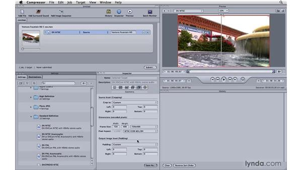 Doing an HD downconvert: Compressor 3.5 Essential Training