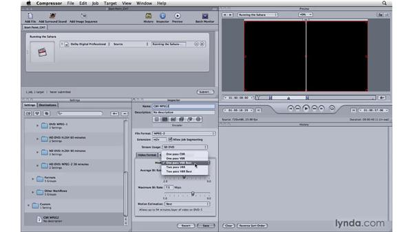 Creating MPEG-2s from Compressor for DVDs: Compressor 3.5 Essential Training