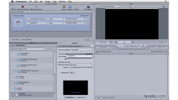 Building DVDs directly from Compressor: Compressor 3.5 Essential Training
