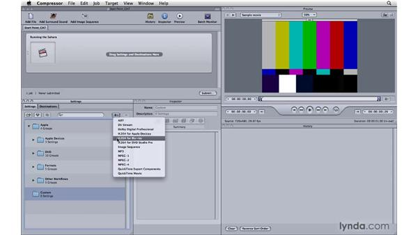 Learning the differences for Blu-ray compression: Compressor 3.5 Essential Training