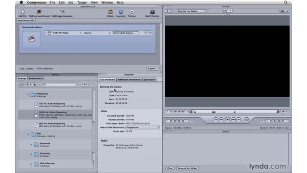 Compressing for video/webcasts: Compressor 3.5 Essential Training