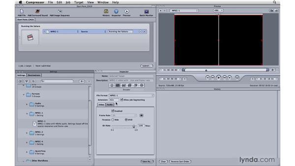 Using MPEG-1 for everyone: Compressor 3.5 Essential Training