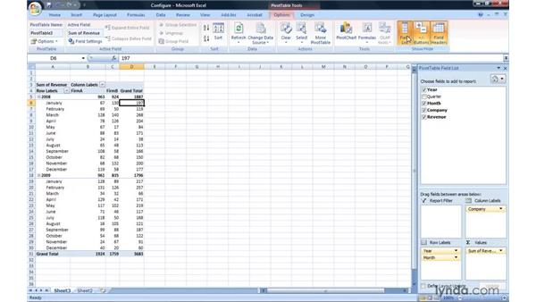 Configuring a PivotTable report: Excel 2007: Pivot Tables for Data Analysis