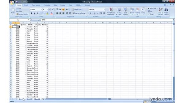 Updating and refreshing PivotTable data sources: Excel 2007: Pivot Tables for Data Analysis