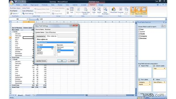Changing the data field summary operation: Excel 2007: Pivot Tables for Data Analysis