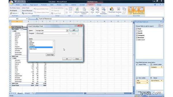 Creating a calculated field: Excel 2007: Pivot Tables for Data Analysis