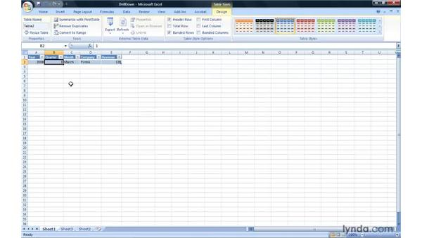Drilling down to the underlying data: Excel 2007: Pivot Tables for Data Analysis