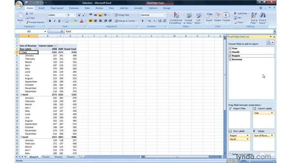 Filtering by selection: Excel 2007: Pivot Tables for Data Analysis