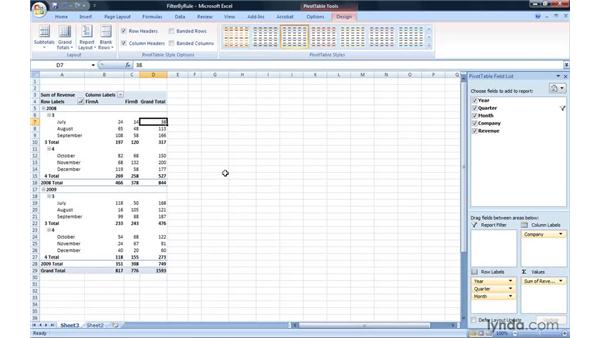 Filtering by a rule: Excel 2007: Pivot Tables for Data Analysis