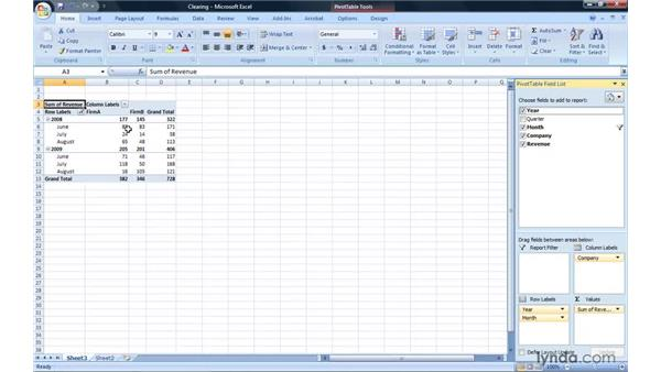 Clearing and reapplying filters: Excel 2007: Pivot Tables for Data Analysis