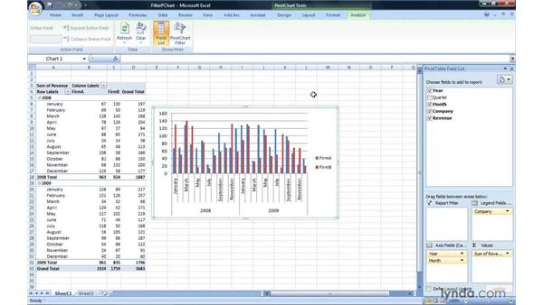 Filtering a PivotChart report: Excel 2007: Pivot Tables for Data Analysis