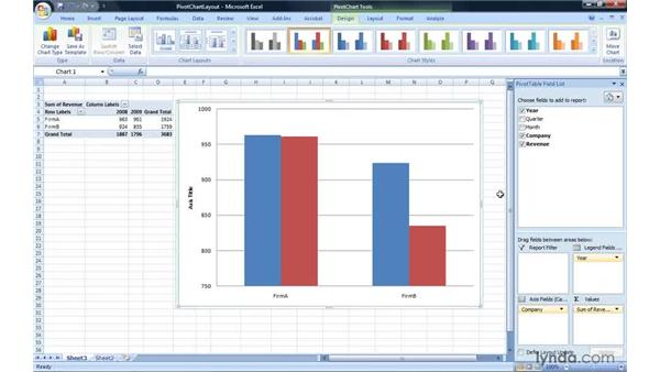 Changing the layout: Excel 2007: Pivot Tables for Data Analysis