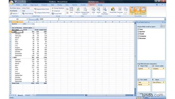Printing each item on its own page: Excel 2007: Pivot Tables for Data Analysis