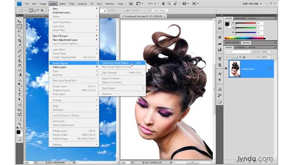 Creating a Smart Object: Photoshop Smart Objects