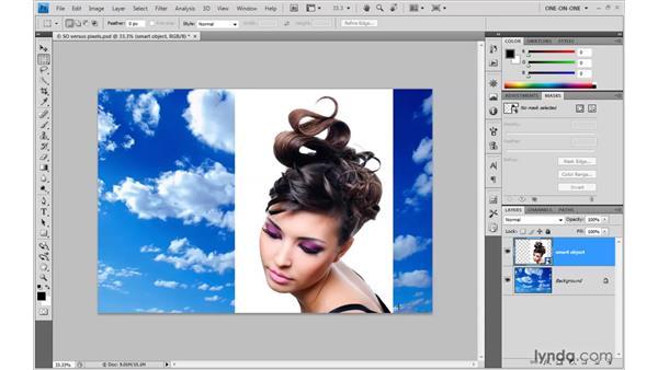 Preparing a composition for masking: Photoshop Smart Objects