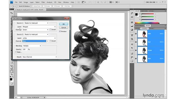 Establishing a base alpha channel: Photoshop Smart Objects