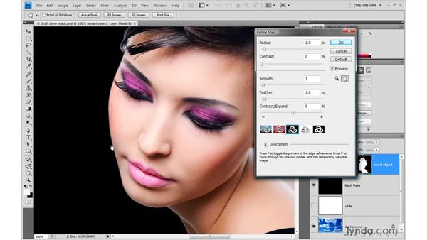 Refining the layer mask: Photoshop Smart Objects