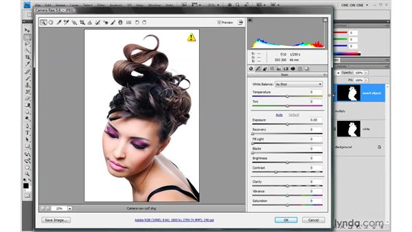 Matching image and ACR resolution: Photoshop Smart Objects