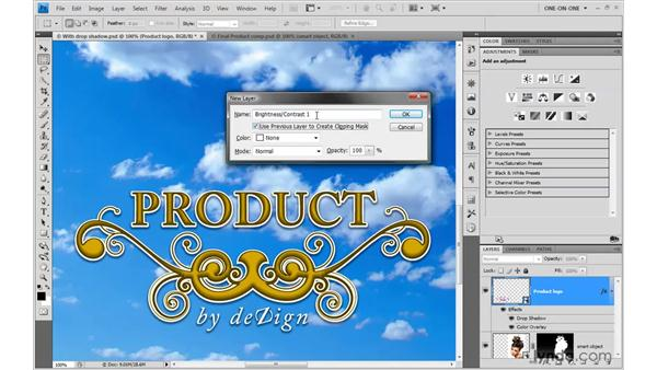 Combining layer effects and adjustment layers: Photoshop Smart Objects