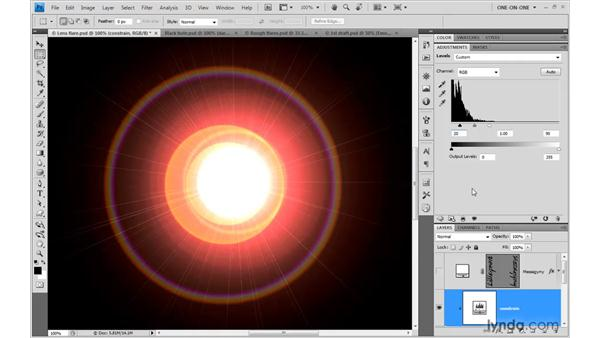 Turning a flare into a black hole: Photoshop Smart Objects