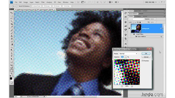 Blending filtered effects: Photoshop Smart Objects