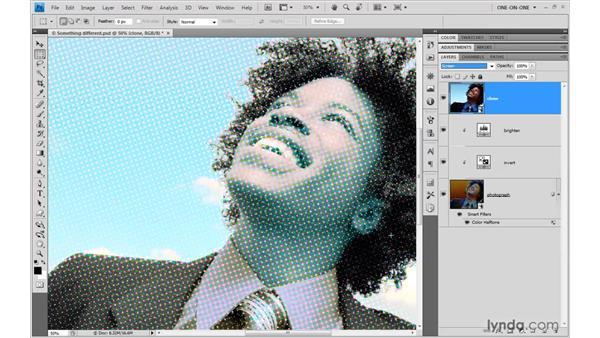Restoring halftone highlights: Photoshop Smart Objects
