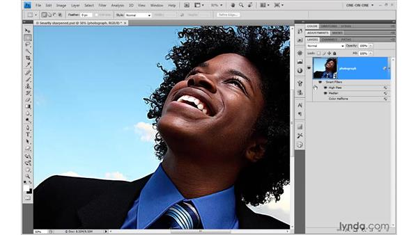 Editing and previewing filter settings: Photoshop Smart Objects