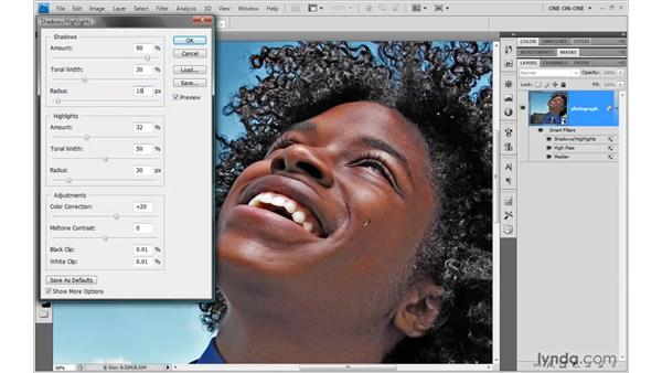 Faking an HDR portrait effect: Photoshop Smart Objects