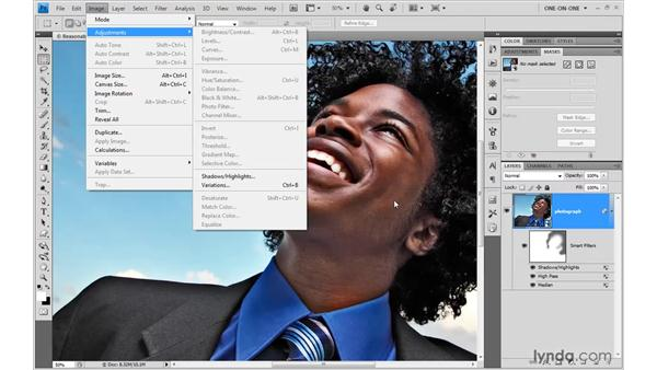 Applying Variations as a Smart Filter: Photoshop Smart Objects