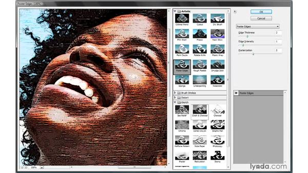 Merging two Filter Gallery effects: Photoshop Smart Objects
