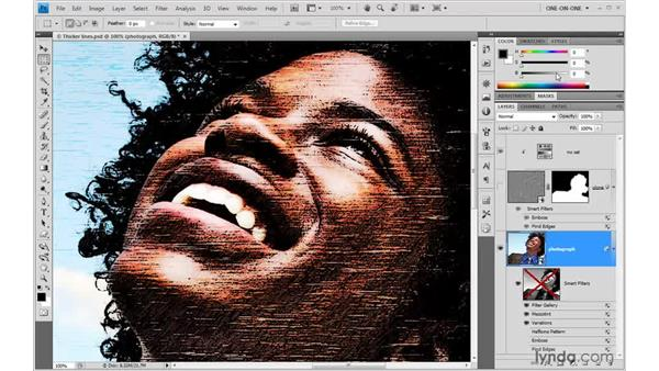 The versatility of Smart Filters: Photoshop Smart Objects