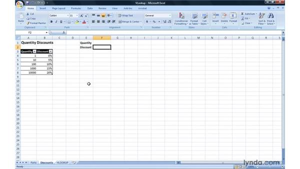 Finding data using VLOOKUP and HLOOKUP formulas: Excel 2007: Introduction to Formulas and Functions