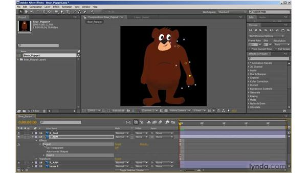 Rigging with the Puppet tool in After Effects: 2D Character Animation