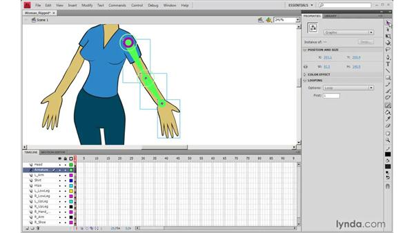 Rigging with the Bone tool in Flash: 2D Character Animation