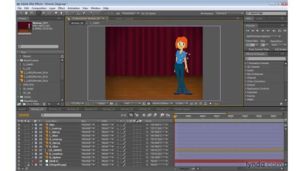 Setting up the scene in After Effects: 2D Character Animation