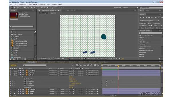 Animating the feet in After Effects: 2D Character Animation