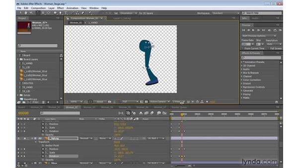 Animating the legs in After Effects: 2D Character Animation