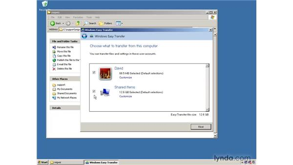 Using Easy Transfer to store the files and settings you want to transfer: Migrating from Windows XP to Windows 7