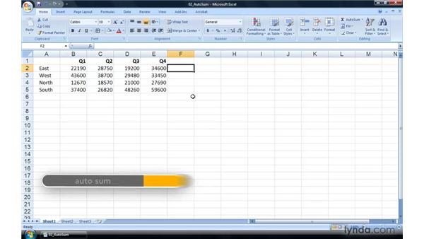 The AutoSum keyboard shortcut: Excel 2007 Power Shortcuts