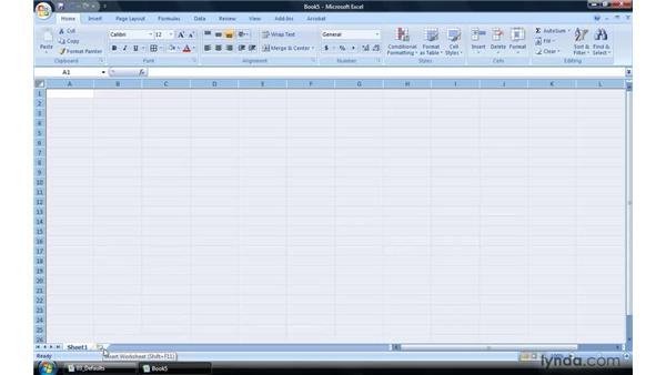 Changing the Excel 2007 defaults: Excel 2007 Power Shortcuts