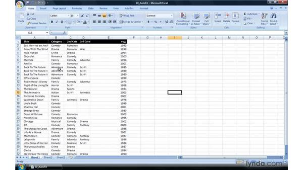 Autofitting all columns and rows to data: Excel 2007 Power Shortcuts