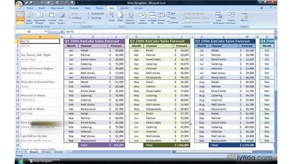 Zooming in and out with the keyboard: Excel 2007 Power Shortcuts