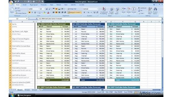 Hiding and revealing rows and columns: Excel 2007 Power Shortcuts
