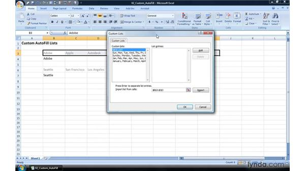 Creating a custom list for Autofill: Excel 2007 Power Shortcuts