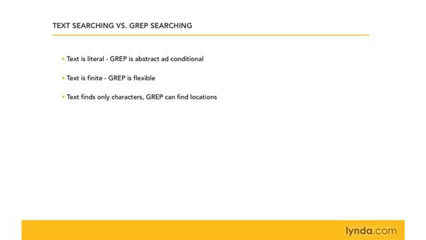 Text searching vs. GREP searching: Learning GREP with InDesign