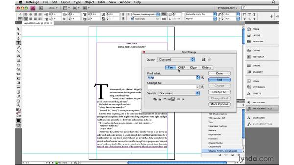 Using metacharacters, the building blocks of GREP: Learning GREP with InDesign